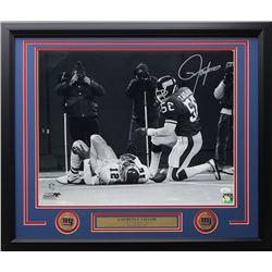 Lawrence Taylor Signed New York Giants 22x27 Custom Framed Photo Display (JSA COA)