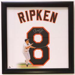 Cal Ripken Jr. Signed Baltimore Orioles 20x20 Custom Frames Photo Display (JSA COA)
