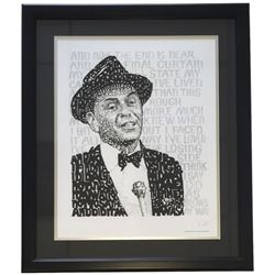 "Frank Sinatra ""Word Art"" 22x27 Custom Framed Photo Display"