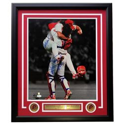Darren Daulton  Mitch Williams Signed Philadelphia Phillies 22x27 Custom Framed Photo Display (JSA C