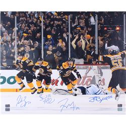 "Boston Bruins ""The Comeback"" 20x24 Photo Signed by (4) with Patrice Bergeron, Brad Marchand, Tyl"