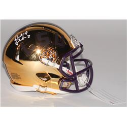Patrick Peterson Signed LSU Tigers Chrome Speed Mini Helmet (Radtke COA)