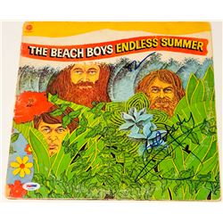 "Al Jardine  Brian Wilson Signed ""Endless Summer"" Vinyl Album Cover (PSA LOA)"