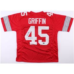 "Archie Griffin Signed Ohio State Buckeyes Jersey Inscribed ""H.T. 1974/75"" (Radtke Hologram)"