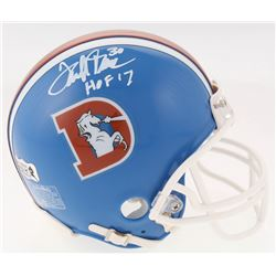Terrell Davis Signed Denver Broncos Throwback Mini Helmet Inscribed  HOF 17  (Radtke COA)