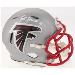 Brett Favre Signed Atlanta Falcons Blaze Speed Mini Helmet (Radtke COA)