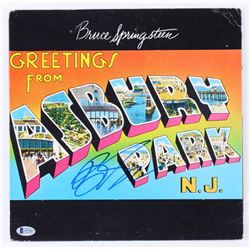 "Bruce Springsteen Signed ""Greetings from Ashbury Park"" Vinyl Record Album Cover (Beckett LOA)"
