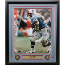 Earl Campbell Signed Houston Oilers 22x27 Custom Framed Photo Display (TriStar Hologram)