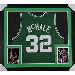 Kevin McHale Signed Boston Celtics 31x35 Custom Framed Jersey (JSA COA)