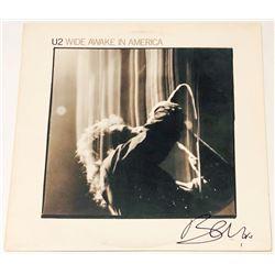 "Bono Signed ""Wide Awake In America"" Vinyl Album Cover (PSA COA)"