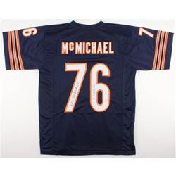 "Steve McMichael Signed Chicago Bears Jersey Inscribed ""4x All Pro"" (JSA COA)"