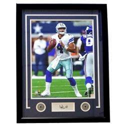 Dak Prescott Dallas Cowboys 22x27 Custom Framed Photo Display