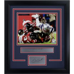 "Julian Edelman New England Patriots ""The Catch"" 17x19 Custom Framed Photo with Laser Engraved Signat"