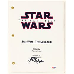 "Adam Driver Signed ""Star Wars: The Last Jedi"" Full Movie Script (PSA COA)"