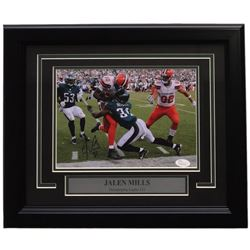 Jalen Mills Signed Philadelphia Eagles 14x17 Custom Framed Photo Display (JSA COA)