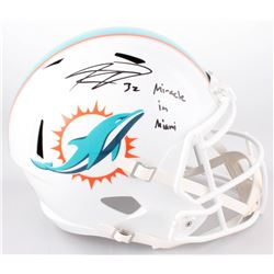 "Kenyan Drake Signed Miami Dolphins Full-Size Speed Helmet Inscribed ""Miracle in Miami"" (Radtke COA)"