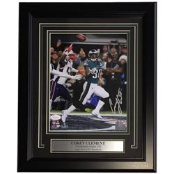 Corey Clement Signed Philadelphia Eagles 11x14 Custom Framed Photo Display (JSA COA)