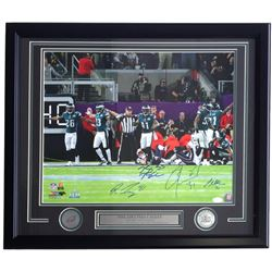 Eagles 22x27 Custom Framed Photod Dislay Signed by (4) with Ronald Darby, Nigel Bradham, Jalen Mills