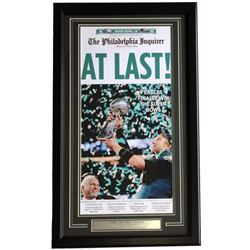 Eagles 18x30 Custom Framed Newspaper Cover Photo Display