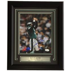 David Akers Signed Philadelphia Eagles 11x14 Custom Framed Photo Display (JSA COA)