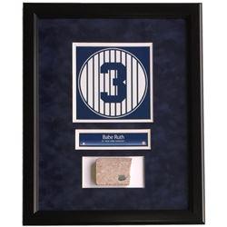 Babe Ruth Framed 16x20 New York Yankees Stadium Monument Park Brick Display (Steiner COA)