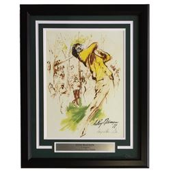 "Leroy Neiman ""Tom Watson"" 18x22 Custom Framed Print Display"