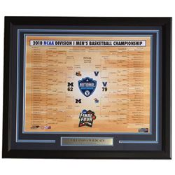 2018 Villanova Wildcats National Champions 22x27 Custom Framed Photo Display