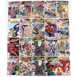 "Lot of (20) 1985-1991 ""Web Of Spider-Man"" Marvel Comic Books"