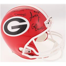 "Todd Gurley  Sony Michel Signed Georgia Bulldogs Full-Size Helmet Inscribed ""Go Dawgs!""(JSA COA)"
