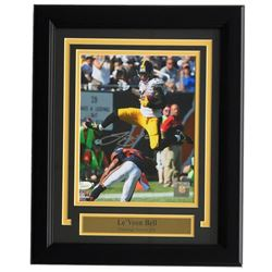 Le'Veon Bell Signed Pittsburgh Steelers 11x14 Custom Framed Photo Display (JSA COA)