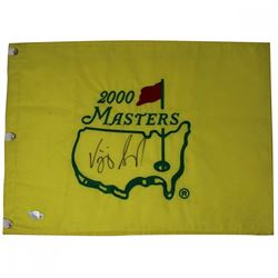 Vjay Singh Signed 2000 Augusta National Masters Pin Flag (Fanatics)