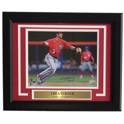Trea Tuner Signed Washington Nationals 11x14 Custom Framed Photo Display (Beckett COA)