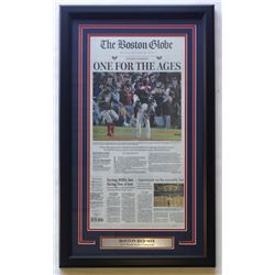 Boston Red Sox 18x30 Custom Framed The Boston Globe Newspaper Page