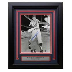 Harmon Killebrew Signed Washington Senators 11x14 Custom Framed Photo Display (Beckett COA)