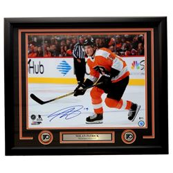 Nolan Patrick Signed Philadelphia Flyers 22x27 Custom Framed Photo Display (Beckett COA)