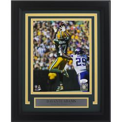 Davante Adams Signed Green Bay Packers 11x14 Custom Framed Photo Display (JSA COA)