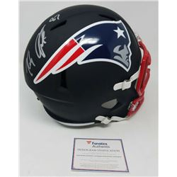 Rob Gronkowski Signed New England Patriots Custom Matte Black Full-Size Speed Helmet (Steiner COA)