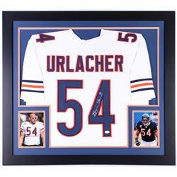 Brian Urlacher Signed Chicago Bears 31x35 Custom Framed Jersey (JSA COA)