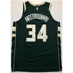 Giannis Antetokounmpo Signed Milwaukee Bucks Authentic Nike Jersey (Fanatics Hologram)