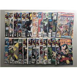 Lot of (49) 1977-1996 Marvel Iron Man Comic Books