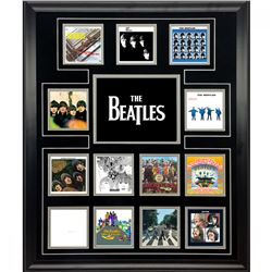 The Beatles 20x24 Custom Framed Album Cover Photos Collage Display