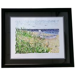 "New Jersey ""Ocean City"" 22x27 Custom Framed Word Art Photo Display"