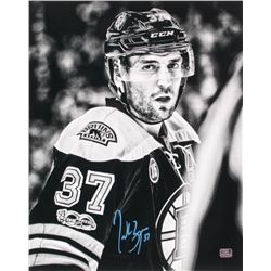 Patrice Bergeron Signed Boston Bruins 16x20 Photo (Bergeron Hologram)