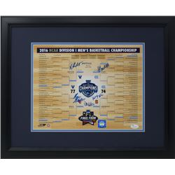 2016 Villanova Wildcats 16x20 Custom Framed Photo Display Signed by (5) with Ryan Arcidiacono, Danie