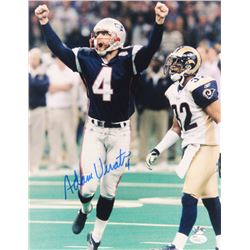 Adam Vinatieri Signed Patriots 11x14 Photo (JSA COA  Vinatieri Hologram)