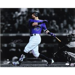 Trevor Story Signed Colorado Rockies 16x20 Photo (JSA COA)