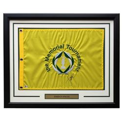 Jordan Spieth Signed Memorial Tournament 21x27 Custom Framed Pin Flag Display (Beckett COA)