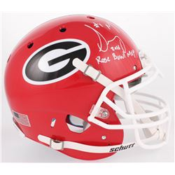 "Sony Michel Signed Georgia Bulldogs Full-Size Authentic On-Field Helmet Inscribed ""2018 Rose Bowl MV"