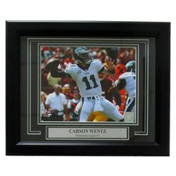 Carson Wentz Philadelphia Eagles 14x17 Custom Framed Photo Display