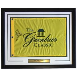 Phil Mickelson Signed The Greenbrier Classic 22x27 Custom Framed Pin Flag Display (Beckett LOA)